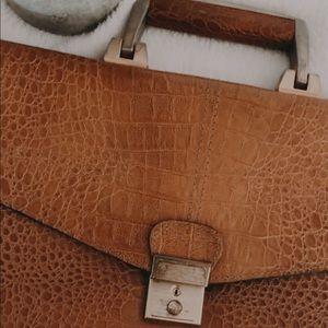 Briefcase Vintage - Looks like Croc!